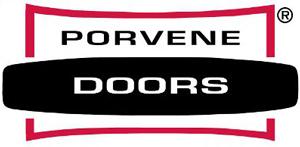 Image of Porvene logo, Roseville Overhead Door sells and installs Porvene garage door products